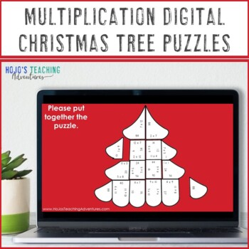 MULTIPLICATION Christmas Tree Math Activities, Centers, or Games