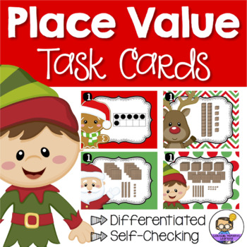 Christmas Math Centers - Place Value Task Cards
