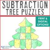 SUBTRACTION Christmas Math Centers Numbers to 20   Tree Puzzles