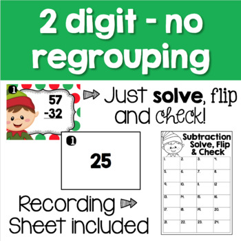 Christmas Math Centers - Subtraction Task Cards