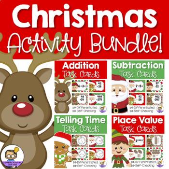 Christmas Math Centers - Task Cards BUNDLE!