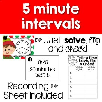Christmas Task Cards - Telling Time