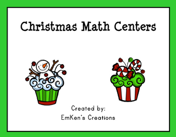 Christmas Math Centers - Third Grade