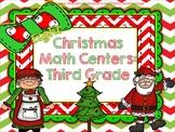 Christmas Math Centers! Third Grade!! Common Core!