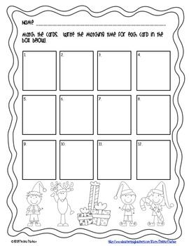 Christmas Math Centers {Time and Money}