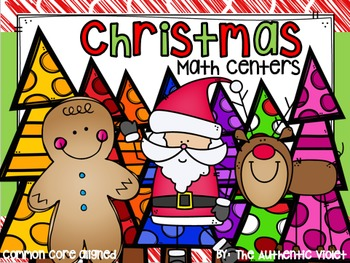 Christmas Math Centers for First Grade {CCSS}