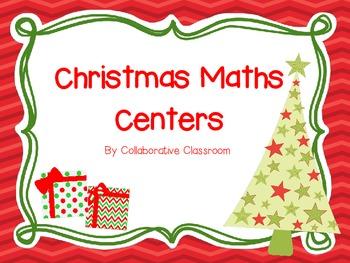 Christmas Math Centers for Kindergarten
