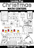 Christmas Math Centers for Kindergarten B&W