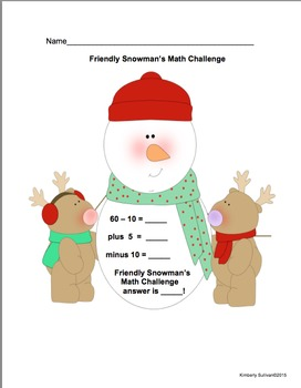 Christmas Math Challenges Grades 1-2  Common Core Early Finishers Centers
