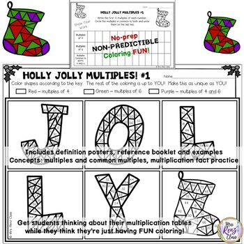 Christmas Math  Christmas Math Coloring - Prepare Students for Fractions!