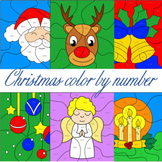 Christmas Math   Christmas coloring pages   Color by Number No Prep Printables