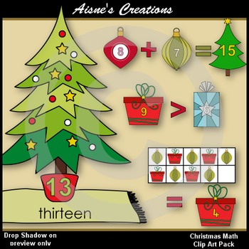 Christmas Math Clip Art