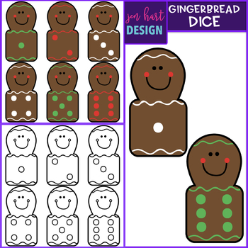 Christmas Clip Art - Gingerbread Math Bundle {jen hart Clip Art}