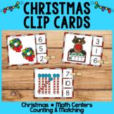 Christmas Math Centers | Clip Cards | Tallies | Ten Frames