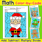 Christmas Math Addition & Subtraction: Santa, Gingerbread Man, Elf, Reindeer