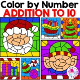 Color by Number Addition Christmas Pages
