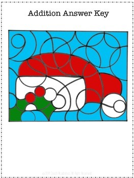 Christmas Math Coloring Pages