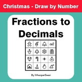 Christmas Math: Convert Fractions to Decimals - Math & Art