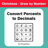 Christmas Math: Convert Percents to Decimals - Math & Art