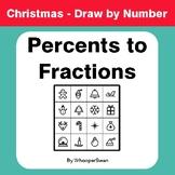 Christmas Math: Convert Percents to Fractions - Math & Art