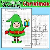 Christmas Math Coordinate Graphing Picture - Christmas Elf Activity