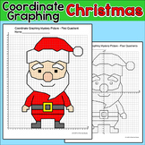 Christmas Math Coordinate Graphing Picture - Santa Claus Christmas Activity