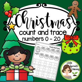 Christmas Math Count and Trace 1 - 20