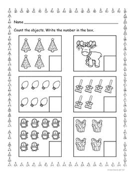 Count and Write to 10 Christmas Theme