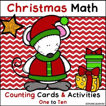 Christmas Math Counting 1 - 10 Cards & Activities / Montes
