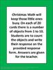 Christmas Math Counting Task Cards