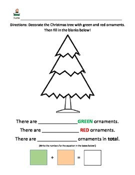 Christmas Math Craft Worksheet