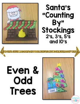 Christmas Math Craftivities for First Grade {Counting By, Making Ten, Even/Odd}
