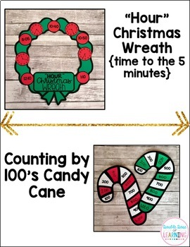 Christmas Math Craftivities for SECOND Grade {Time, Money, Fractions & more!}