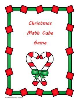 Christmas Math Cube Game