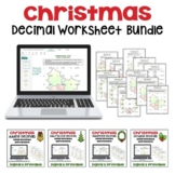 Christmas Decimal Worksheet Bundle (Differentiated with 3 Levels)