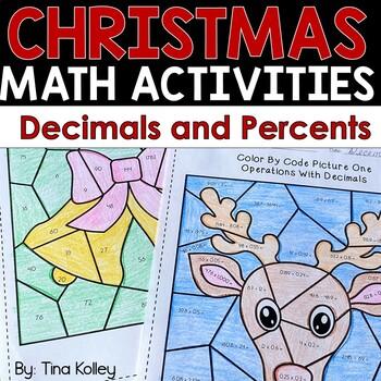 Christmas Math - Decimals and Percents