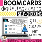 Christmas Math Digital Escape Boom Cards