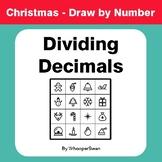 Christmas Math: Dividing Decimals - Math & Art - Draw by Number