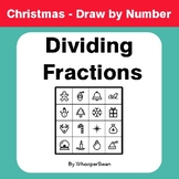 Christmas Math: Dividing Fractions - Math & Art - Draw by Number