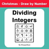 Christmas Math: Dividing Integers - Math & Art - Draw by Number