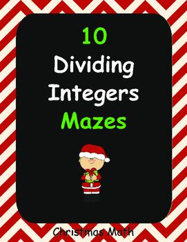 Christmas Math: Dividing Integers Maze