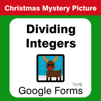 Christmas Math: Dividing Integers - Mystery Picture - Google Forms