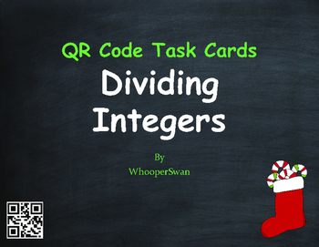 Christmas Math: Dividing Integers QR Code Task Cards