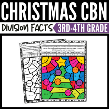Christmas Math Division Color-by-Number Worksheets 2
