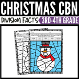 Christmas Math Division Color-by-Number Worksheets