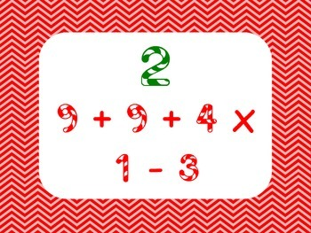 Christmas Math Drills - Order of Operations