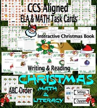 Christmas. Math & ELA Task Cards...and More! CCS Aligned