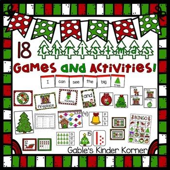 Christmas Math, ELA, and Fun Games & Activities Unit (18 total)