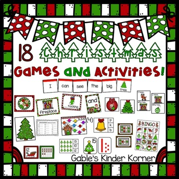 christmas math ela and fun games activities unit 18 total - Christmas Games For Toddlers