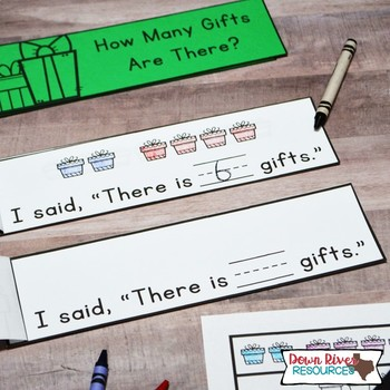 Christmas Math Emergent Readers {TEKS} | Sight Word Practice | Math Skills